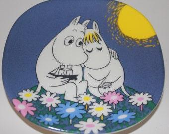 "Muumi plate  ""Kuutamo"" ""Moonshine"" by Arabia Finland"