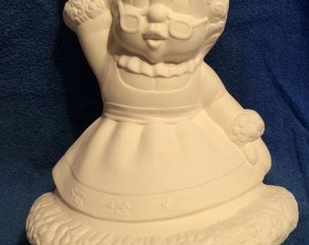 Mrs. Santa #2 ceramic bisque