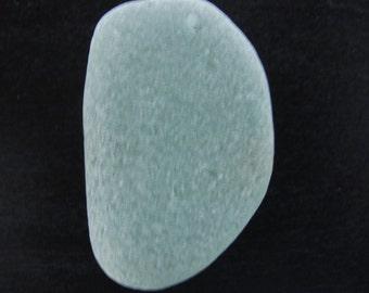 Drilled soft green sea foam sea glass  beach glass genuine sea foam beach glass