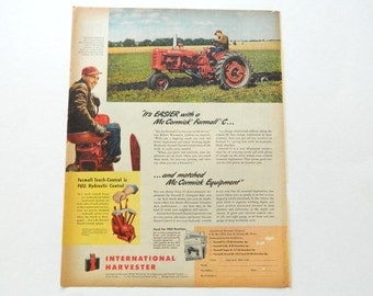 Unavailable listing on etsy for International harvester wall decor