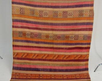 REDUCED - Beautiful Old Vintage Moroccan Kelim