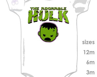 The Incredible and Adorable HULK Funny Cute Onesie