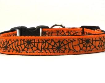The Spiderweb Halloween Breakaway Cat Collar