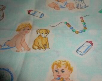 Baum Textil Mills Cotton Vintage Baby Fabric-One Yard