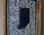 Beers of Indiana Word Map (Dark Blue)