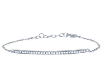 Beautiful 14k Diamond Bar Bracelet. BXSC55001169