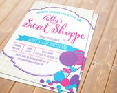 Sweet Shoppe Printable Invitation - Birthday