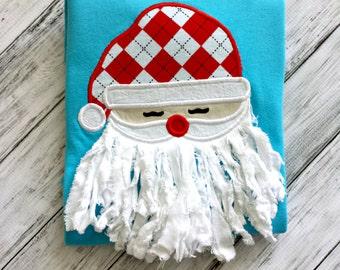 Boys 3D Santa Christmas Shirt