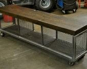 the AXLEY -  Reclaimed Wood Media Console Cart