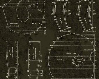 Janet Wecker-Frisch Dress Patterns on Black Yardage