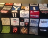T Shirt Quilt 36 Block Memory Quilt Custom Order Quilt - Using Your Shirts-DEPOSIT ONLY
