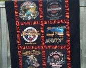 Harley Davidson T-Shirt Quilt Custom Quilt - Deposit Only