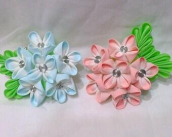 Hydrangea kanzashi multipurpose hair clip/brooch combination - choose one