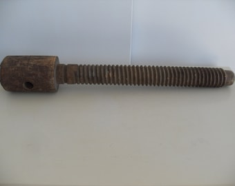 Large Antique Wooden Screw