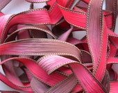 "Apple Cinnamon 42 ""hand dyed  silk ribbon// Silk Wrist Wrap  Bracelet Ribbons// Silk Wrap Ribbons// Silk Ribbons//By Color Kissed Silk"