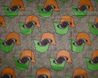African Fabrics Cotton Block Wax Prints Sold By Yard (Kikwembe)