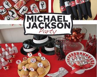 Michael Jackson Party Printable KIT - MJ - Digital File - Printable Party