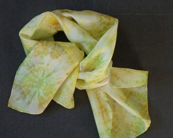Stitched Shibori Silk Scarf