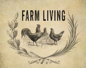 Farm Living Clipart & Background Papers Collection - 22 Clipart Images and 5 Backgrounds - 300dpi) Instant Download -JPG and PNG Files