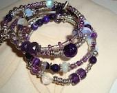 Wabi Sabi Purple Fairy Charm Bracelet (Item WSB2)