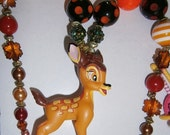 Disney Bambi or friend's necklace,Girls Chunky Necklace,Chunky bubble gum Necklace,