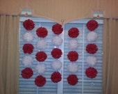 Tissue Paper Pom Pom Garland - Birthdays Decor// Nursery// Weddings// Ceremony// Backdrop Decor