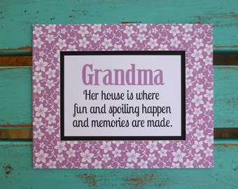 Mothers Day,  Mimi gift, Nana gift, Grandma gift, her house is fun