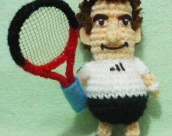 Crochet Tennis Figure amigurumi  Andy Murray