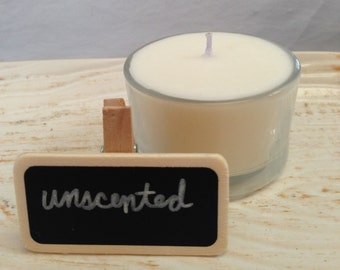 Unscented Soy Tealight Votive Candle