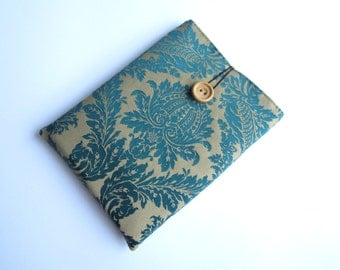 Damask Kindle sleeve, iPad mini sleeve, Kindle Paperwhite sleeve, Nexus 7 sleeve, ipad sleeve, ipad air case, Kobo case, Nook sleeve