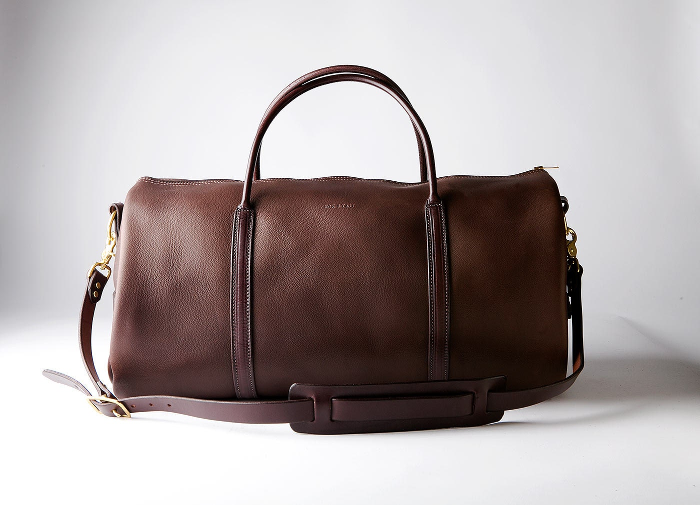 Brown Leather Weekender Bag GORGEOUS Handmade in America by