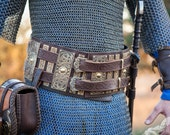 15% DISCOUNT! Medieval War Belt; Viking Belt; Men's Leather Belt; Wide Belt