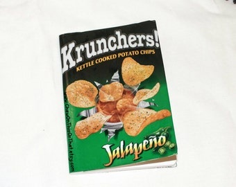 Krunchers Jalapeño Kettle Cooked Potato Chips Upcycle Notebook Eco Friendly Mini Journal Bullet To Do List Paper ELCP Life Planner Notepad
