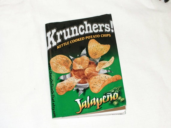 Kettle Cooked Chips ~ Krunchers jalapeño kettle cooked potato chips upcycle notebook