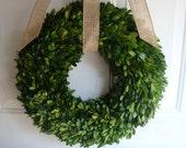 """20"""" preserved boxwood wreath, fall wreath, wedding wreath, year round wreath, wedding decoration, housewarming gift, boxwood wreath, boxwood"""
