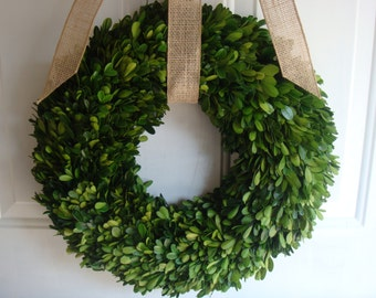 "20"" preserved boxwood wreath, fall wreath, wedding wreath, year round wreath, wedding decoration, housewarming gift, boxwood wreath, boxwood"