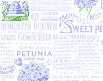 Sausalito Cottage Text Print in Periwinkle by Holly Holderman