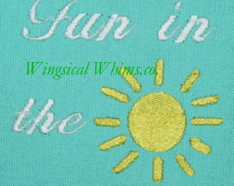 Fun in the Sun Digitized Machine Embroidery File ONLY