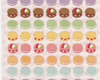 Macaron stickers (F2317)