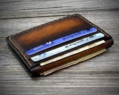 Front Pockets Leather Wallet. Credit card Holder. Genuine Italian Leather Wallet. Leather Card Wallet. Handmade in Italy.