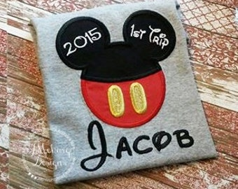 Boy Mouse Custom embroidered Disney Inspired Vacation Shirts for the Family! 831