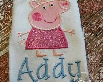 Peppa Pig Fairy Birthday Custom Tee Shirt - Customizable -  Infant to Youth 246