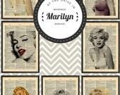 Marilyn Monroe Dictionary Art Series