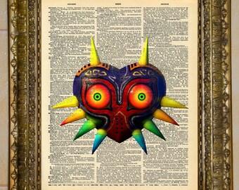 Legend of Zelda Majora's Mask Skull Kid Mask Dictionary Art