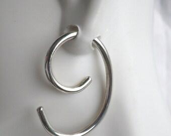 11 Gauge Sterling Silver Hoop Earrings