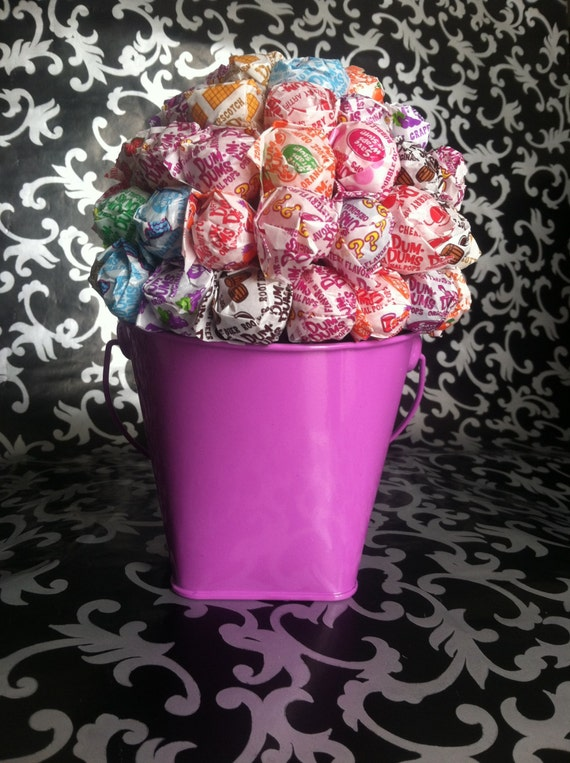 how to make a dum dum lollipop bouquet