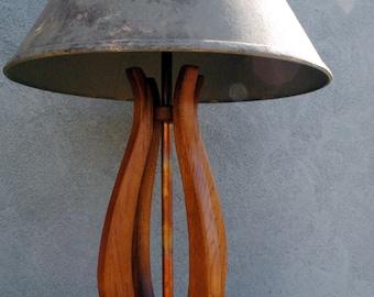 """Art Deco Lamp ~ Original """"Deco Tulip"""" Butternut Art Deco Table Lamp"""