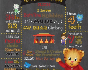 Daniel Tiger Chalkboard - DIGITAL FILE ONLY