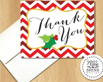 Christmas Holly - Thank You Notes