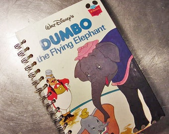 Journal DUMBO Disney Book Vintage Notebook Recycled